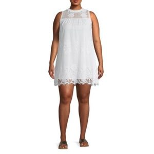 No Boundaries Lace Summer White Dress (Size 10)